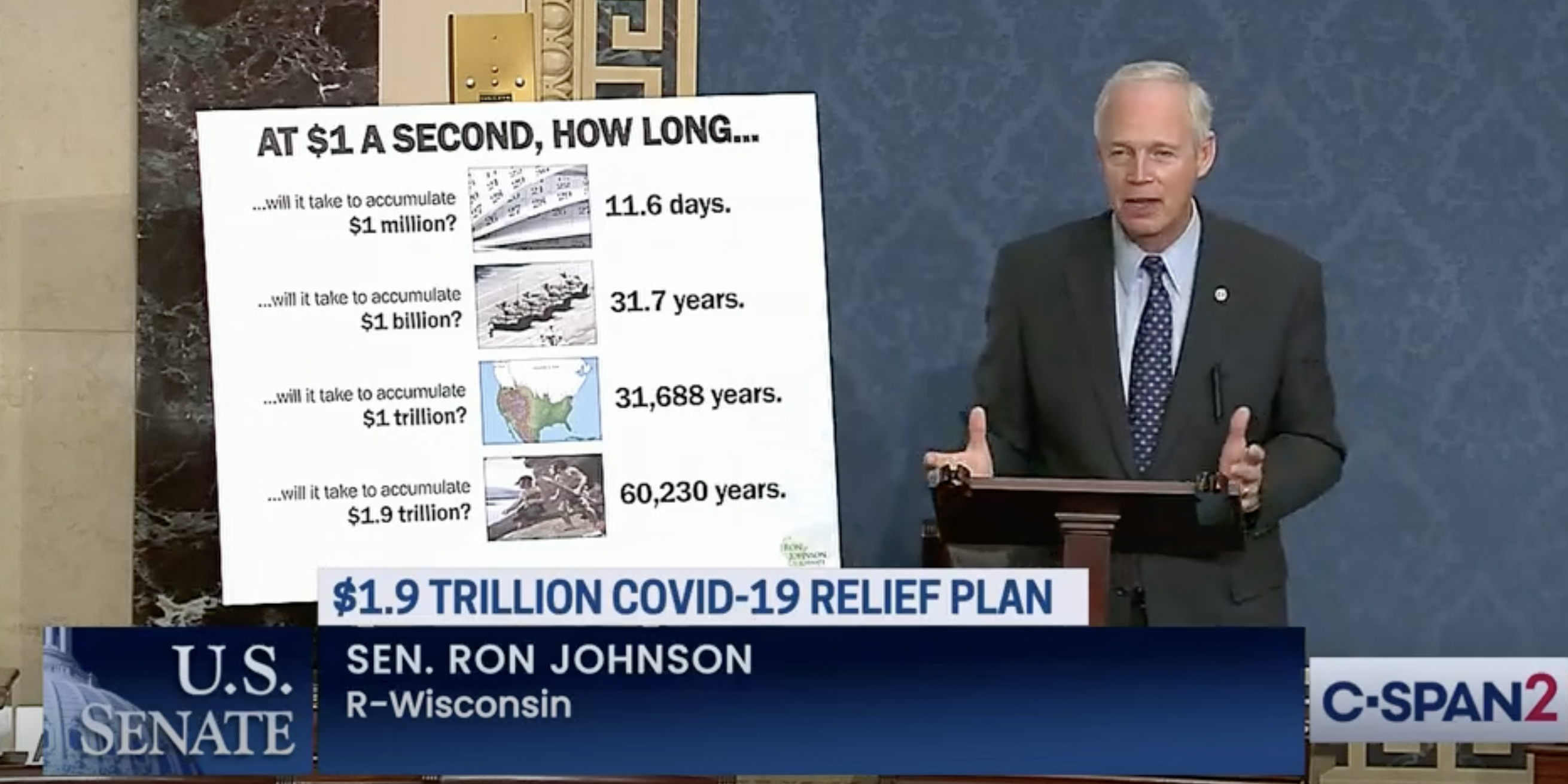 Here are some of Sen. Ron Johnson's thoughts on the $1.9 trillion COVID-19 relief bill
