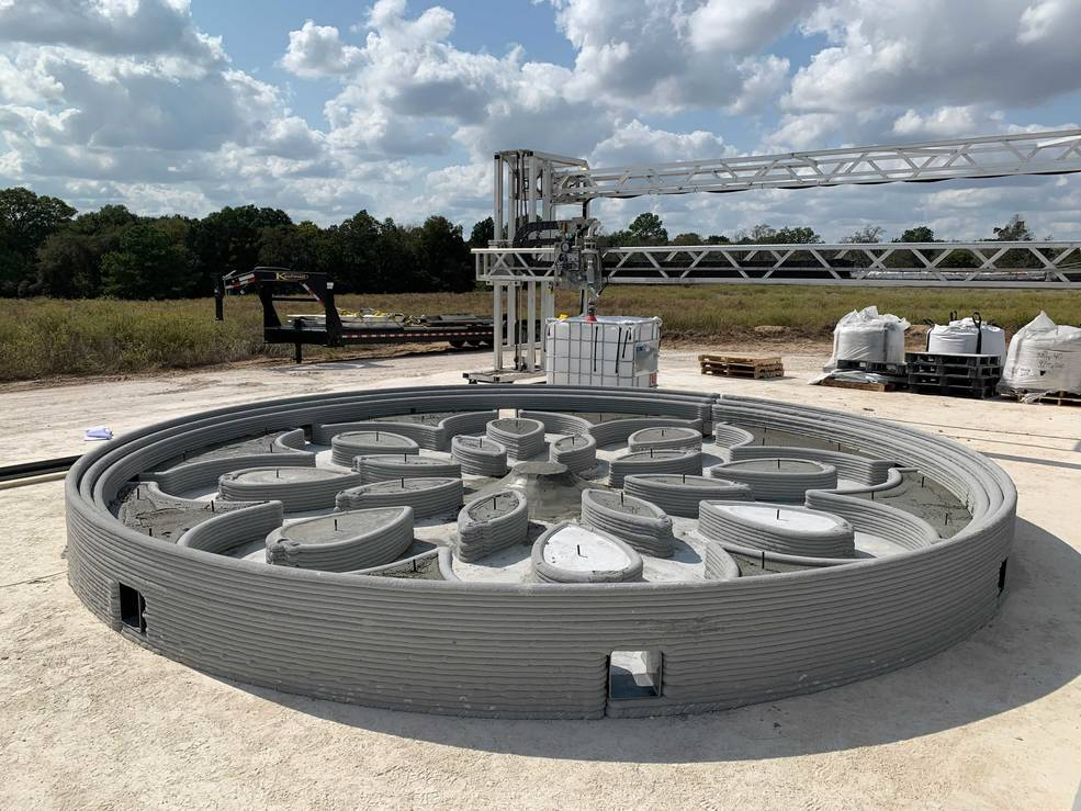 ICON Builds Student-Designed 3D Printed Rocket PAD for Moon Missions