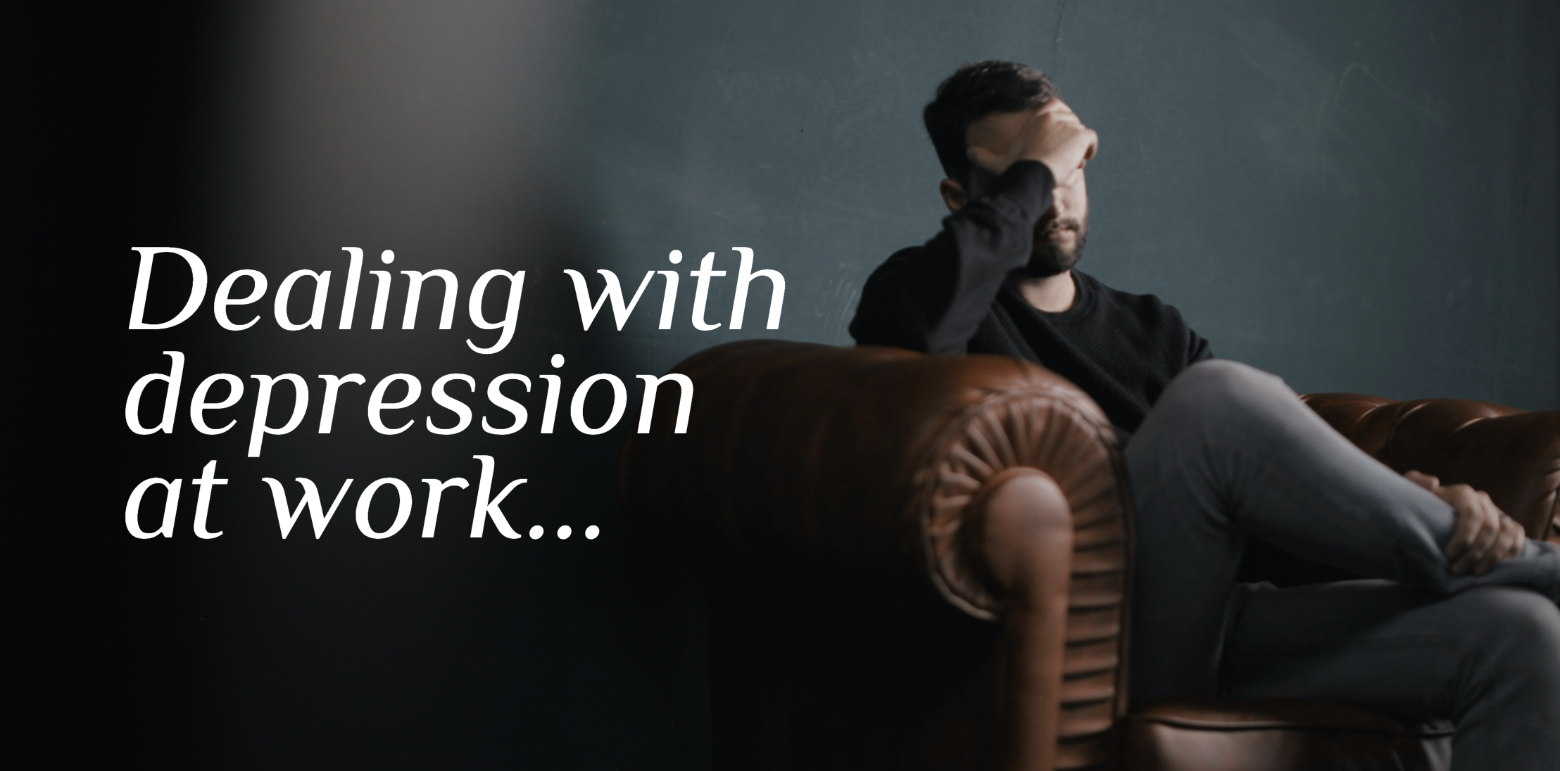 How to Fight Depression at Work if you Can't Take Time Off