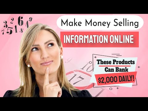 how to make money selling information products online (up to $2,000 daily)