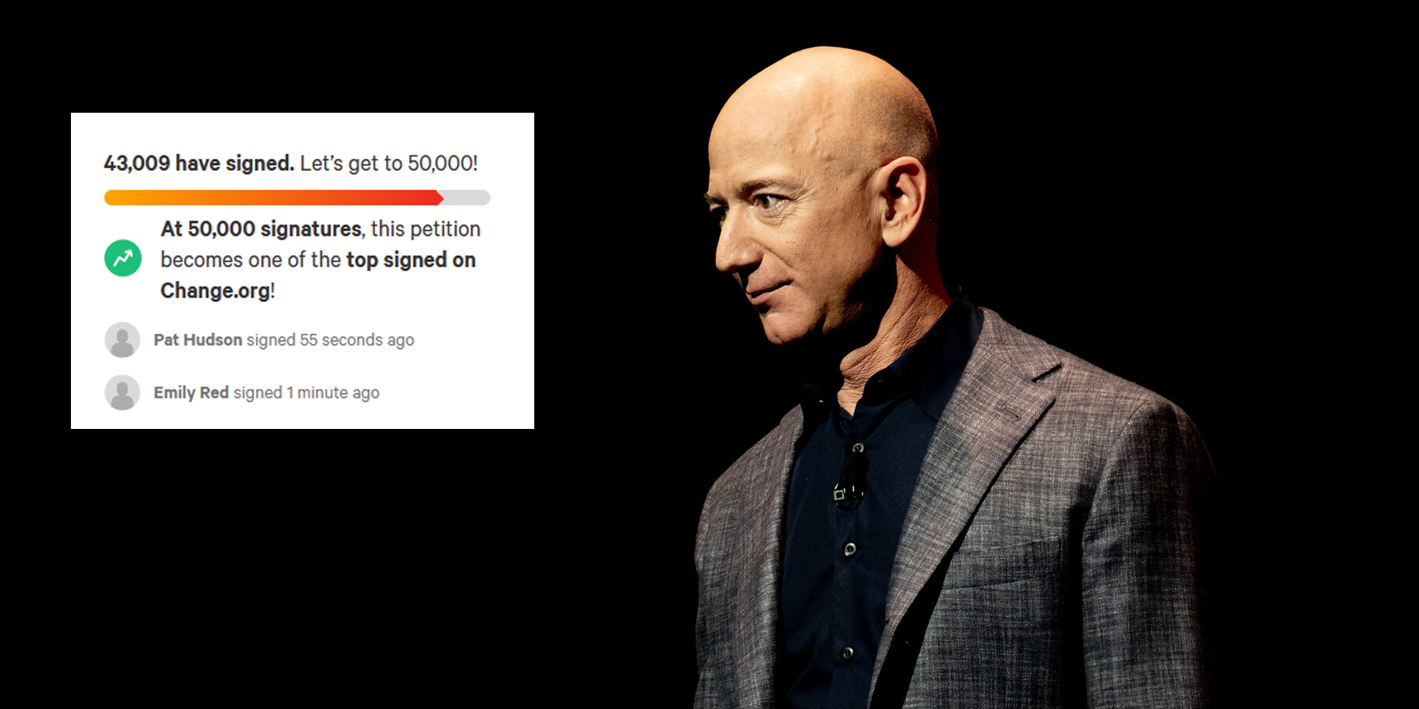'Billionaires should not exist': Thousands sign petitions calling for Jeff Bezos not to return from space trip