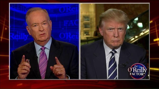 Bad news if your name happens to be Donald Trump or Bill O'Reilly