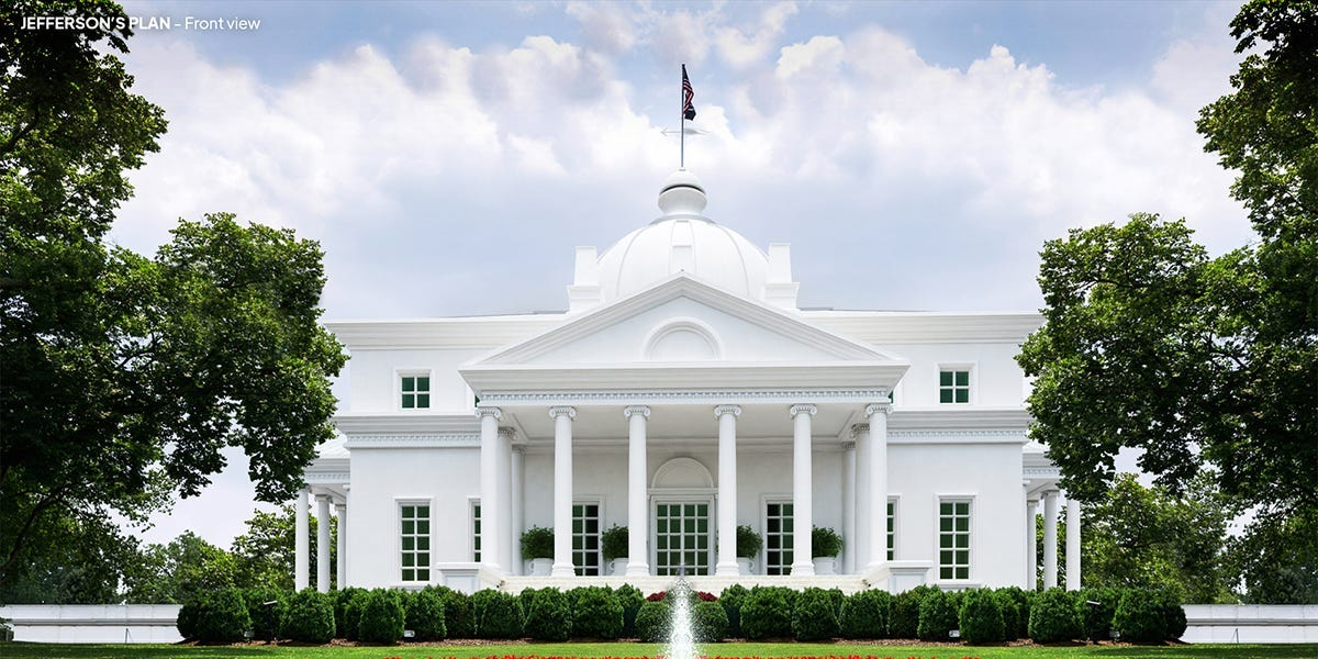 The White House is instantly recognizable. But these new digital renderings show five alternate versions of what the building could have looked like.
